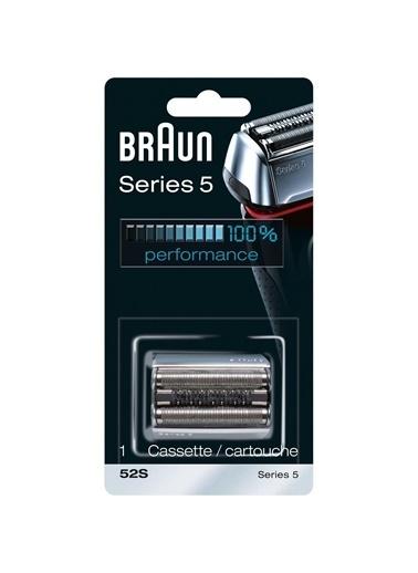 Braun 5 Serisi Tıraş Makinesi Yedek Başlığı 52S (Gümüş) Renkli